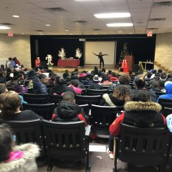 Dancer entertains at 5th Annual Warm a Child for Winter Event