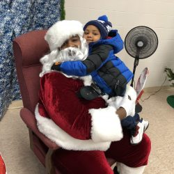 Santa at 5th Annual Warm a Child for Winter Event